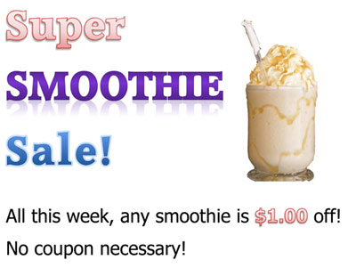 super smoothie sale